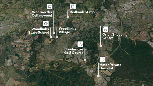 Woodlinks Map
