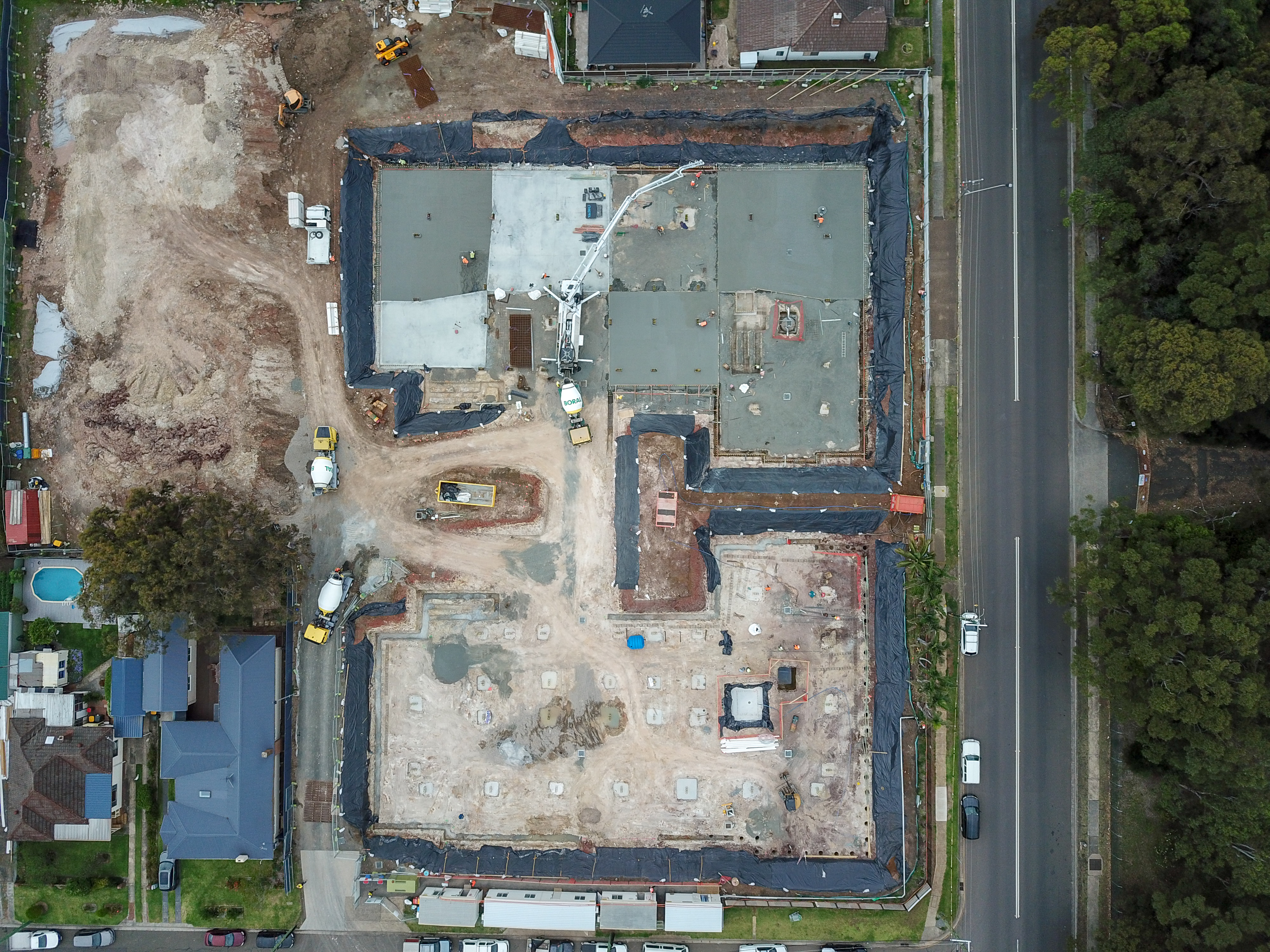 Villas at Corrimal  birds eye view